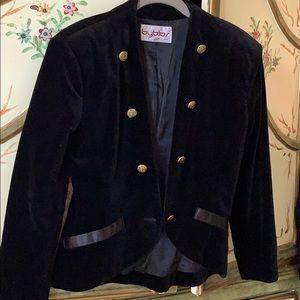 Byblos Velvet jacket size 42 like 4 US. Made Italy